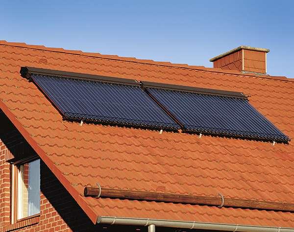 Инсталиране на вакуумни колектори на наклонен покрив
