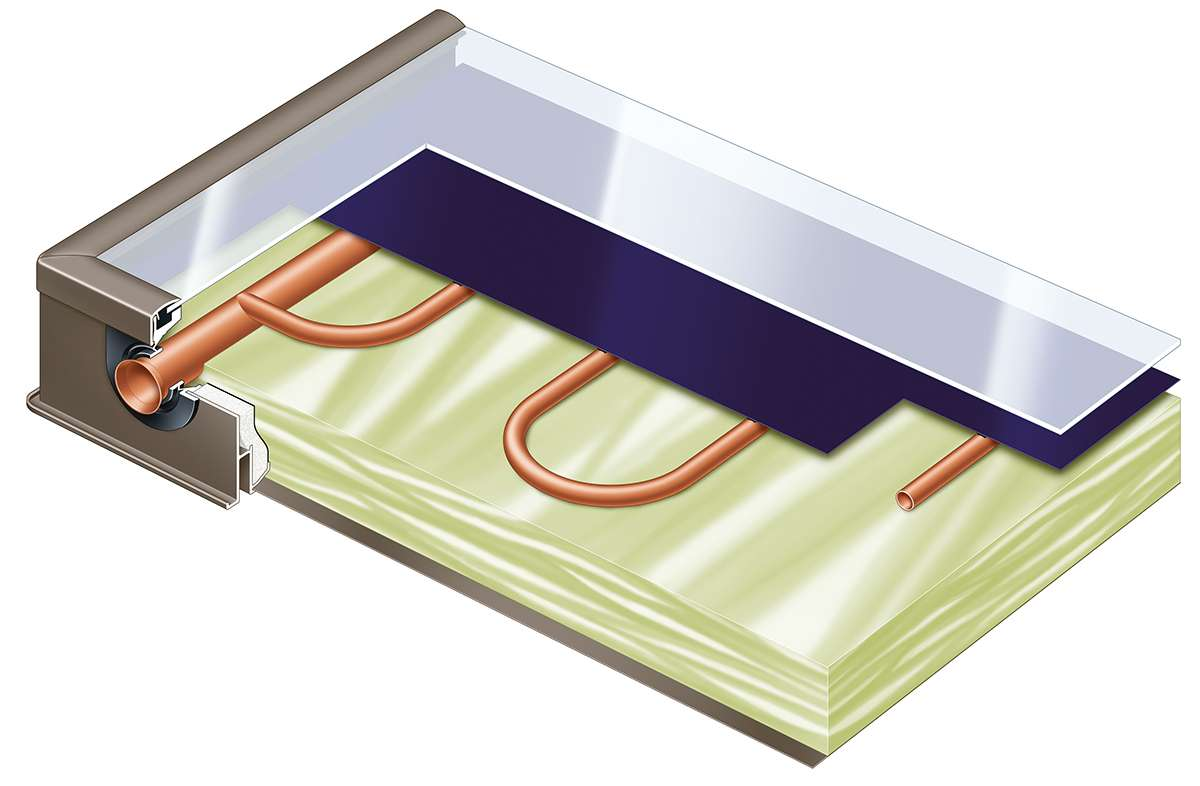 Устройство на плосък слънчев колектор Viessmann
