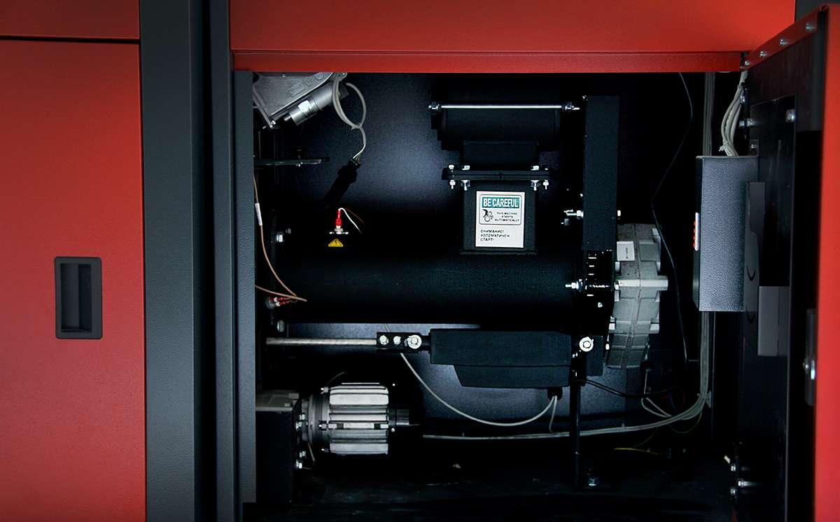 Механизмы подачи пеллет и очистки камеры сгорания