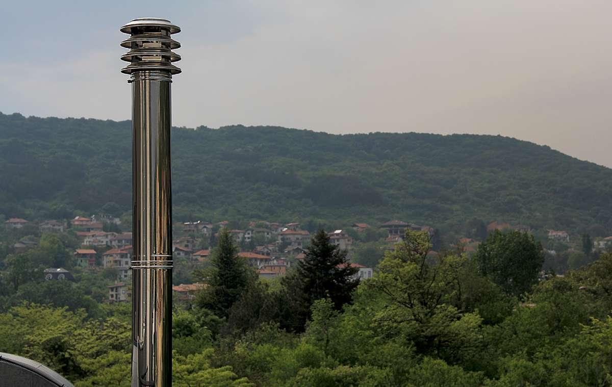 Труба для выхлопных газов пеллетного котла