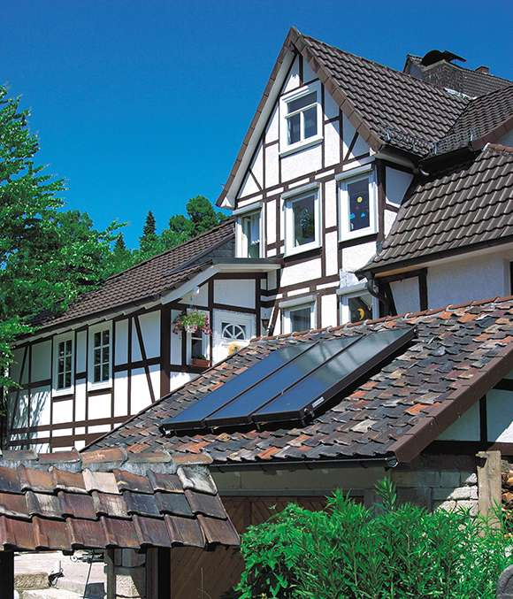 Installation of solar collectors Viessmann Vitosol F series