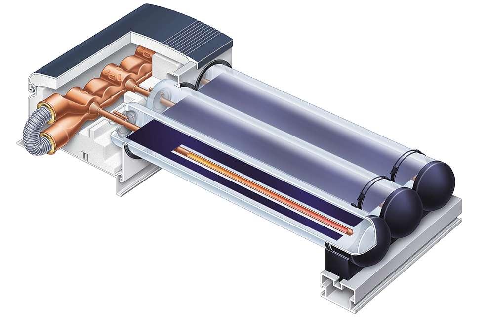 Устройство на слънчев колектор Viessmann Vitosol 300-T тип SP3B
