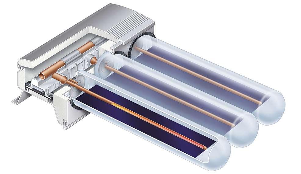 Устройство на слънчев колектор Viessmann Vitosol 200-T тип SPE