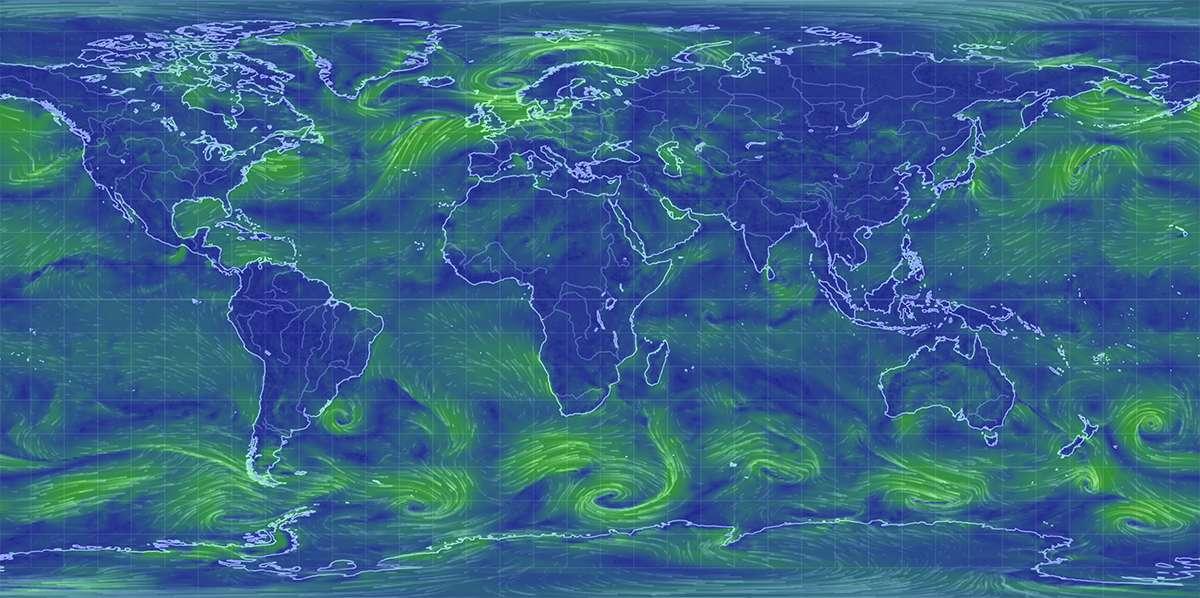 Глобальная онлайн карта ветров