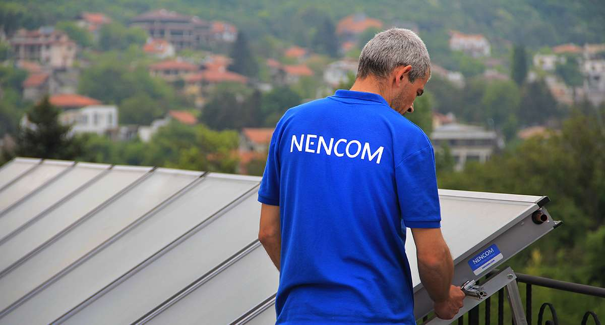 Mounting of solar collectors NENCOM