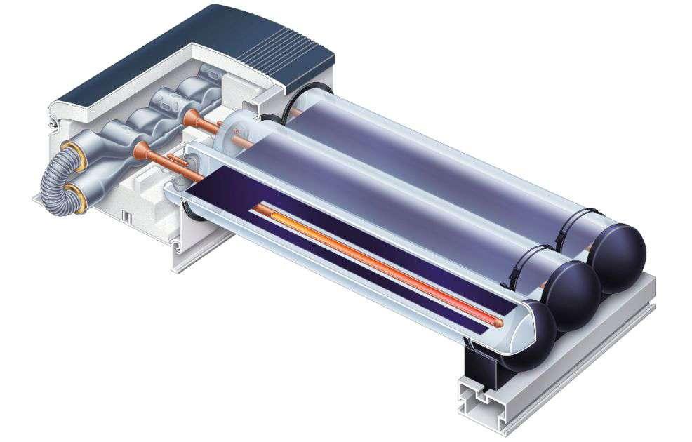 Устройство на слънчев колектор Viessmann Vitosol 200-T тип SP2A